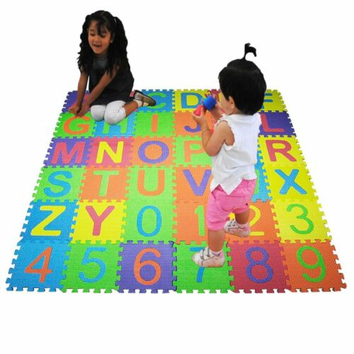 36PCS SOFT EVA FOAM BABY CHILDREN KIDS PLAY MAT ALPHABET NUMBER PUZZLE JIGSAW
