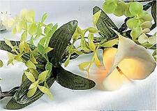 Lighted Calla Lily & Greenery Floral Garland Spring Decor