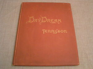 THE-DAY-DREAM-1888-ALFRED-TENNYSON-ORNATE-ILLUSTRATED-VICTORIAN-ANTIQUE-HC-BOOK