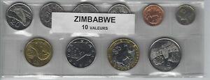 CréAtif Zimbabwe Série De 10 Pièces De Monnaie