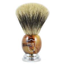 PARKER hhpb grandi puro Badger capelli pennello da barba con finto corno & MANIGLIA CROMATA