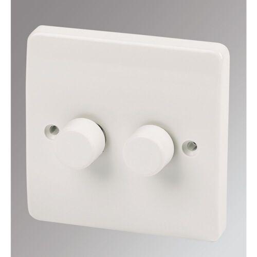Mk Logic Plus K1522 B LV Basse tension double Variateur Interrupteur De Lumière 2 Gang Blanc