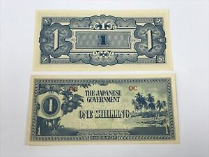Oceania 1 Shilling Japanese Occupation (1942) UNC