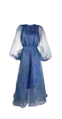Beaufille Organza Watercolor Gown 6