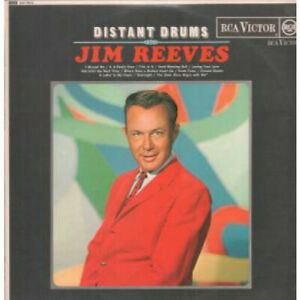 JIM-REEVES-Distant-Drums-LP-VINYL-UK-Rca-Victor-12-Track-Red-Spot-Label-Issue