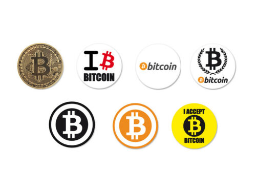 Lot Pack Magnet Aimant Ø38mm Bitcoin Monnaie Money