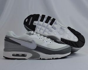 Details about Nike Air Max BW 820344 005 White Black Gray Kids GS Shoes