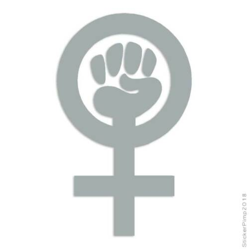 Woman Power Feminist Decal Sticker Choose Color Size #755