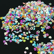 5000 Candy Colors Sequins Nail Art Stickers 3mm Heart Star Flower Shaped Decal