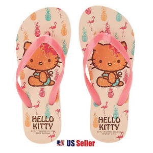 7dff5cfc4 Sanrio Hello Kitty Flip Flops Adult & Kids Slippers Summer Shoes ...