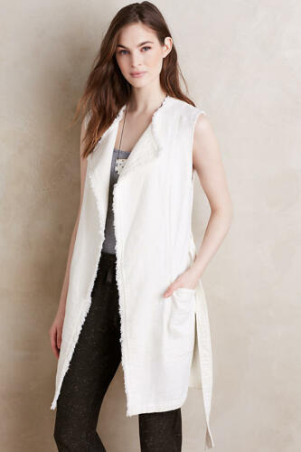 Raw Sz Frayed Luna 138 Anthropologie Da Nwt 00 Xs Bordi Vest Elevenses qF8vxAw