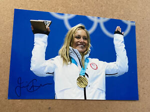 Olympic Snowboarder JAMIE ANDERSON Autographed 4 x 6 Glossy Photo - 2014 GOLD