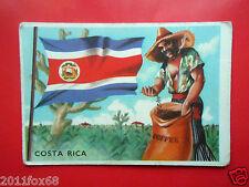 figurines cromos card figurine sidam gli stati del mondo 83 costa rica bandiere