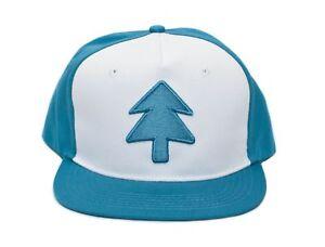 d38024f504a Aqua Embroidered Dipper Gravity Falls New Flat Bill BLUE PINE TREE ...