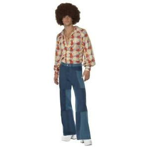 Disco Costume with Bell Bottoms Adult 70s Halloween Fancy Dress
