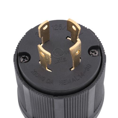 30A 125V-250V Twist Lock Male Plug for RV Camper Generator Electric Cord Plug