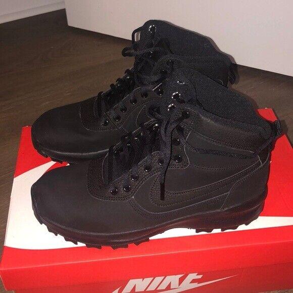 Nike Manoadome Boots 🥾 Triple Black Mens 9 844358-003 Hiking Boots Manoa