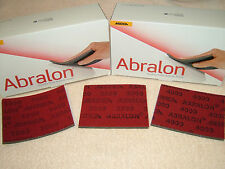 Mirka Abralon 3 x Mixed grit -1000,2000,4000 Hand sanding pads. Woodwork/Turning