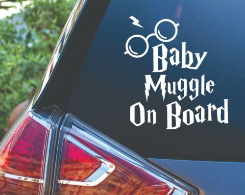 Baby Muggle on Board Potter Car Van Vinyl Decal Sticker