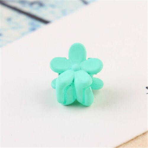 10 Pcs Candy Color Flower Shape Girls Hair Claw Hair Clips Hair Accessory Nice