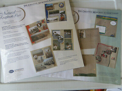 Creative Memories 12 x 12 Natural Scrapbook Pages 15 Sheets