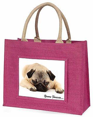 Mops Hund dir für immer Stimmung Große Rosa Einkaufstasche Weihnachten P,