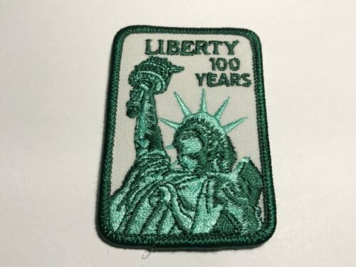 Liberty 100 Years Patch Green Statue New York City NYC USA Vintage Monument A