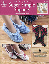 Super Simple Slippers ~ 8 Slipper Designs ~ Adult Size, Annie's crochet patterns
