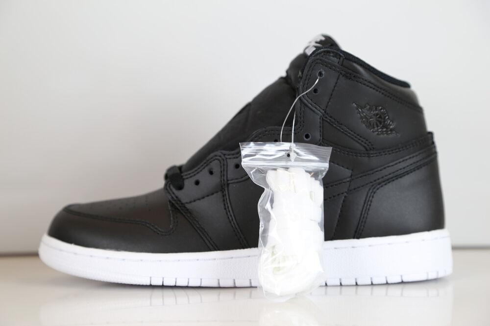 Nike Air Jordan Retro 1 High OG BG GS Noir Cyber Monday 575441-006 3.5-6.5 3 8 Chaussures de sport pour hommes et femmes