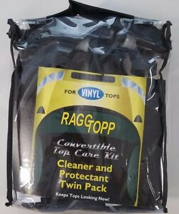 raggtopp vinyl protectant and cleaner kit for convertible tops ebay. Black Bedroom Furniture Sets. Home Design Ideas