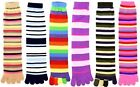 6 Pairs Womens Mens Assorted Stripes Winter Warm Soft Toe Socks Credos Size 9-11