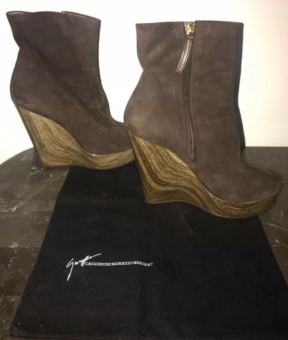795 Giuseppe Zanotti Suede Ankle Stiefelies 39 Itaky Authentic Dust Bag