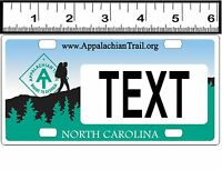Personalized Custom Aluminum Bicycle State License Plate-nc Appalachian Trail
