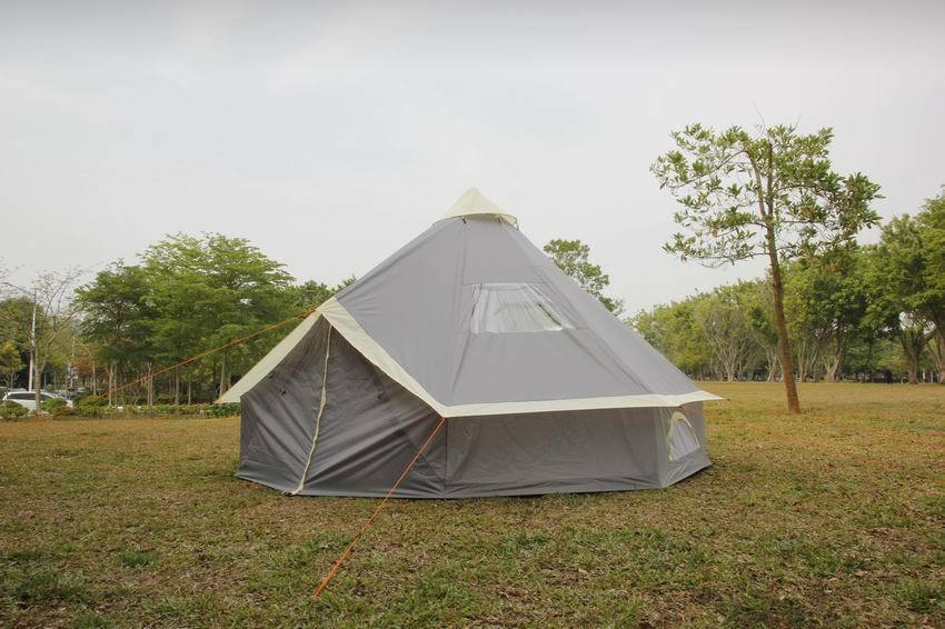 Bell Tent 8 //10 Person Tent Zipped-in-Ground sheet 4M 5M  Family Camping Grey