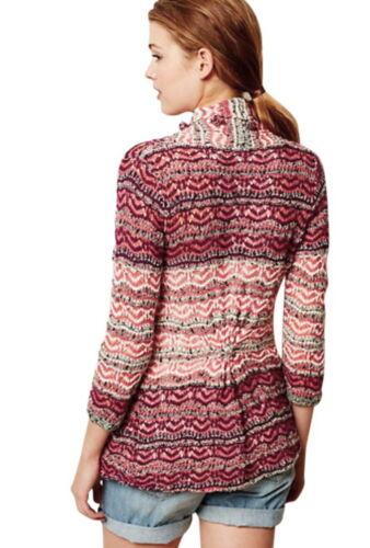 Small Red Kasimira Pom Jacquard Sweater Poms 4 Anthropologie Cardi Moth Nwt 2 zwtYxq5Hd