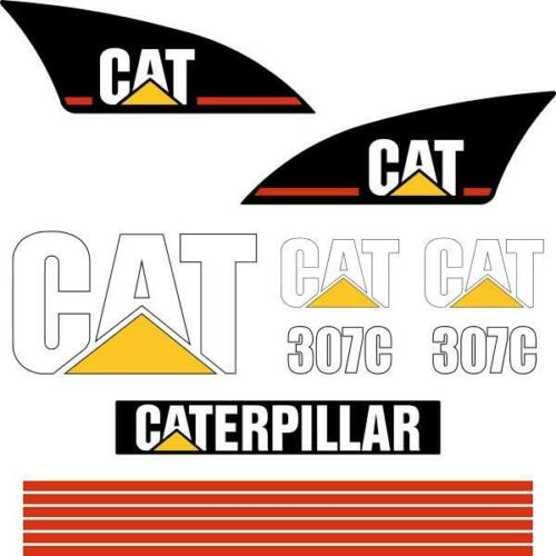 CAT 307C Decals Stickers repro excavator decal kit Early Model