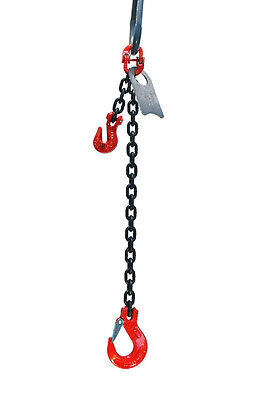 "3//8/"" 10 Foot Grade 80 SOPLa Single Leg Lifting Chain Sling Positive Locking Hook"
