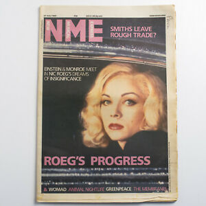 NME magazine 27 July 1985 Theresa Russell Marilyn Monroe cover Womad Smiths