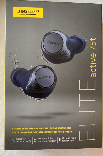 Jabra Elite Active 75t True Wireless Earbuds Navy Blue 100 99091000 02 For Sale Online Ebay