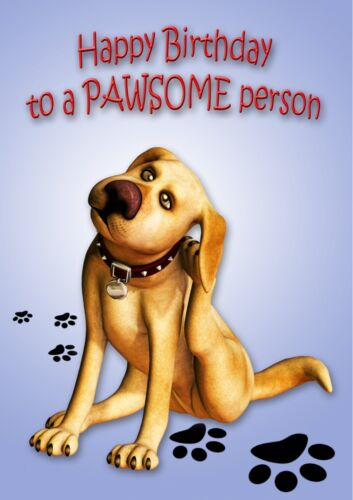 ILLUS INSIDE FUNNY FROM THE DOG BIRTHDAY CARD  Pawsome Person PERSONALISED