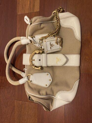 Prada Handbag - White - Purse