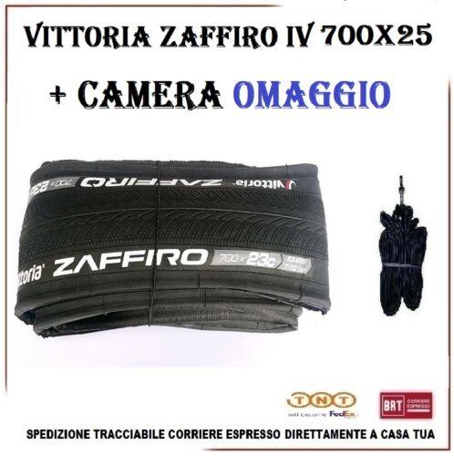 Camera Copertoncino 700X25 VITTORIA ZAFFIRO IV Bici Corsa Strada Pieghevole