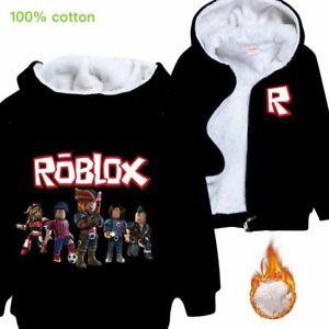 Gifts Roblox Kids Boys Girls Winter Hoodie Jacket Outerwear Top