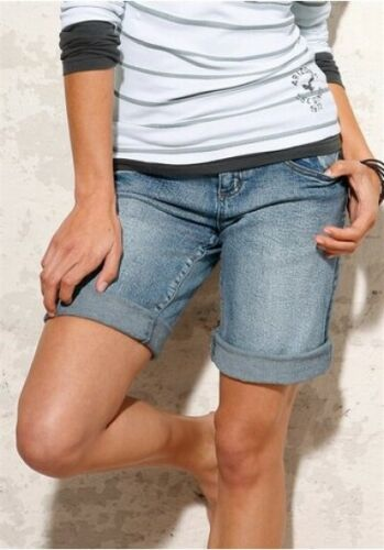 ARIZONA Jeans Bermuda Krempel Jeans Shorts Damen Short kurze Hose Umschlag Gr 34