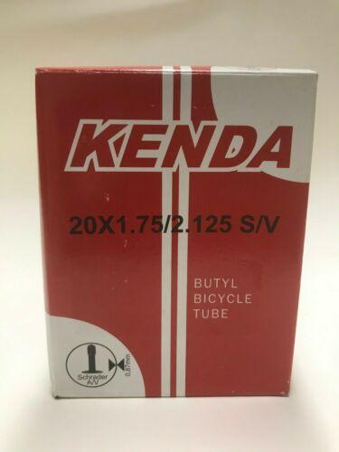 Kenda 20x1.75//2.125 S//V Vélo Tube