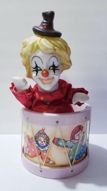 Creepy Scary Circling Musical Hobo Clown Music Box