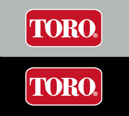 """TORO Logo Premium Vinyl Decal for Zero Turn /& Walk Behind Mowers 2.5/"""" x 1.25/"""""""