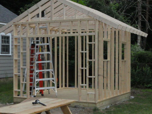 10X20 SALTBOX WOOD STORAGE GARDEN SHED PLANS 26 STYLES 16 8 12 GABLE GAMBREL