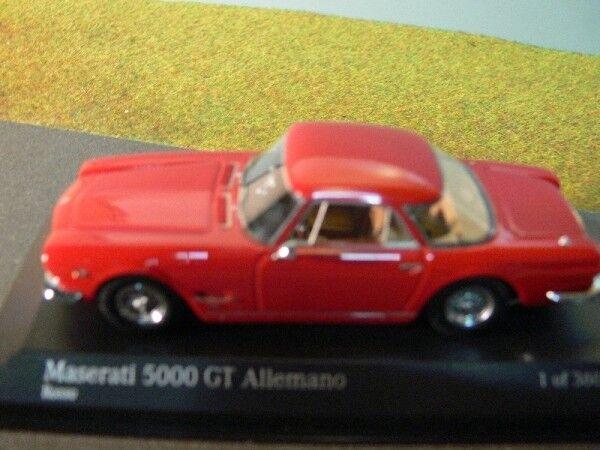 1 43 Minichamps Maserati 5000 GT Allemano Allemano Allemano 1962 Rouge 437 123321 48a33a