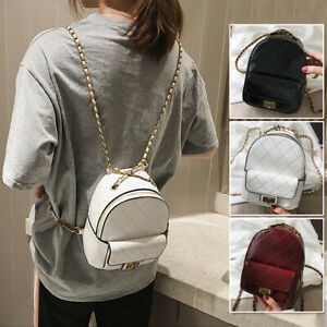 Convertible-Faux-Leather-Small-Mini-Backpack-Rucksack-Shoulder-bag-Purse-Cute
